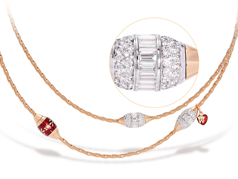 f1e69e731 ... moment of happiness in the wearer's life and represents the unbounded  passion for that life to which the necklace owes its name. Each rondel  rotates.