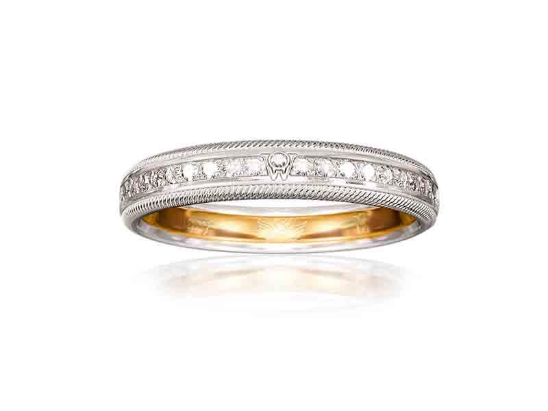 Wellendorff Diamond Romeo and Diamond Juliet Wedding Rings
