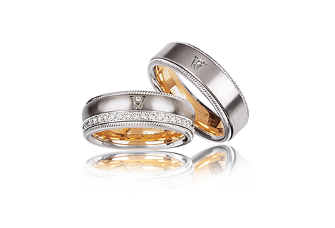 ... Wedding Rings That Can Move Freely And Yet Remain Forever Connected To  Each Other. The Inner Ring Can Be Turned Playfully And Smoothly U2013 Each  Rotation ...